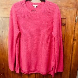 J Jill Cotton Hi Lo Sweater